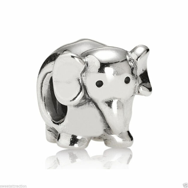 0832a6c0d New Authentic Pandora Charm Sterling Silver Elephant 790480 W Tag & Suede  Pouch