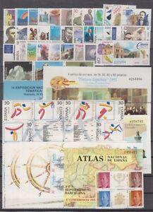 SPAIN-ANO-1995-COMPLETO-NUEVO-MNH-ESPANA-EDIFIL-3336-3405-CON-LAS-HOJITAS