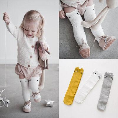 Baby Toddler Girl Knee High Long Socks Cotton Princess Bow Tights Stockings Ks