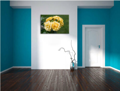 gelbe Rosen  Leinwandbild Wanddeko Kunstdruck