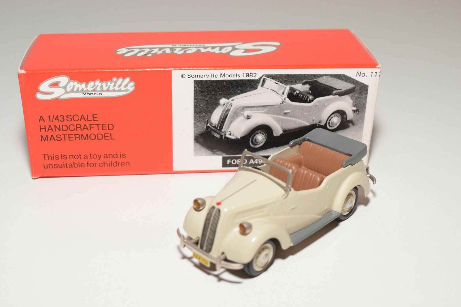 SOMERVILLE MODELS 117 FORD A494A ANGLIA TOURER CREAM MINT BOXED