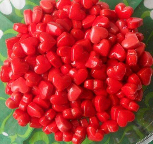 ✰ 100 Dragierte Traubenzucker Herzen ✰ rot ✰ Hochzeit ✰