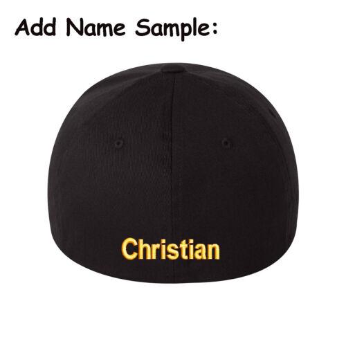 Flexfit flex fit cap hat U.S MARINES VETERAN USMC VET with personal name stitch