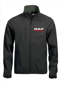 Details about DAF Quality Softshell Jacket Coat Black Embroidered Sizes S 5XL