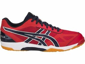 027ca114b73c Asics Rote Japan Light Red Peacoat Men Volleyball Badminton Shoes ...