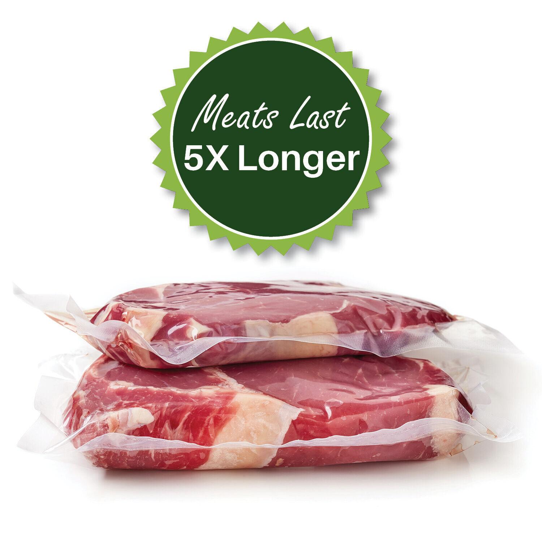 """TWO GIANT 8/""""x50/' Rolls Vacuum Sealer Food Storage Bags Huge Food $$$ Save!"""