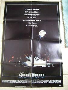 Vintage-Movie-Poster-1-sheet-Silver-Bullet-1985-Gary-Busey-Corey-Haim