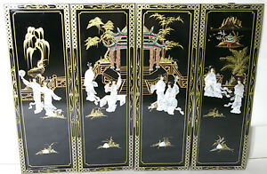 Oriental-Chinese-black-lacquer-frames-wall-plaques-wall-picture-gifts