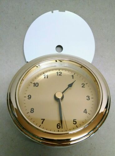 """3 THREE CLOCK FIT UP insert brass face // CUSTOMIZE YOUR OWN FACE 3/"""" hole NEW"""