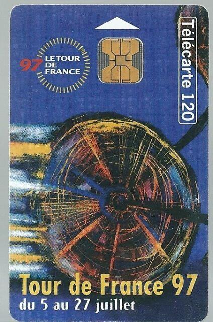 Télécarte carte téléphonique Tour de France 1997 cyclisme sport vélo 120 unités