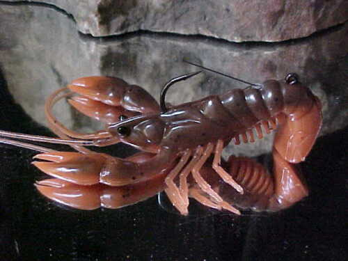 NEW River2Sea Weedless Stand/'N/'Yabbie Crayfish WO-SY100//03 BROWN ORANGE BASS