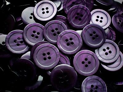 20mm 32L Deep Purple Pearlescent Baby Children Quality 4 Hole Buttons K240