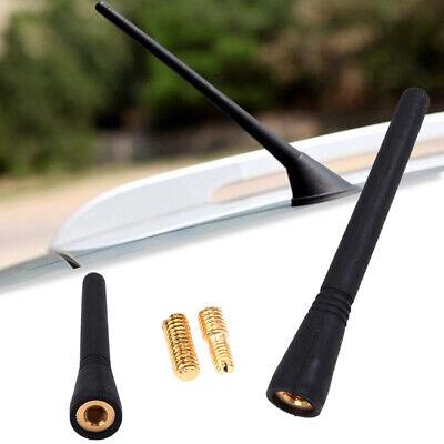 """Black Auto Car 4/"""" length Short AM//FM Signal Roof Antenna Aerial Screws Universal"""