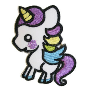 Cute-Unicorn-Iron-On-Patch-Embroidered-Sew-On-Magical-Fantasy