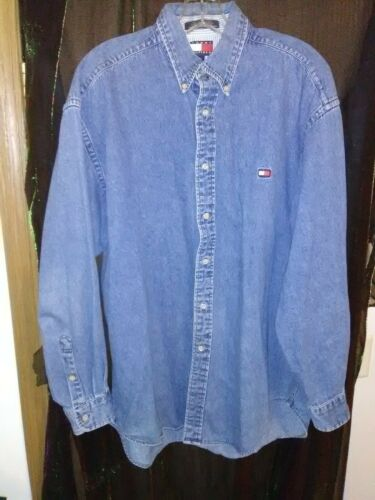 Tommy Hilfiger Mens Denim Shirt Size Medium