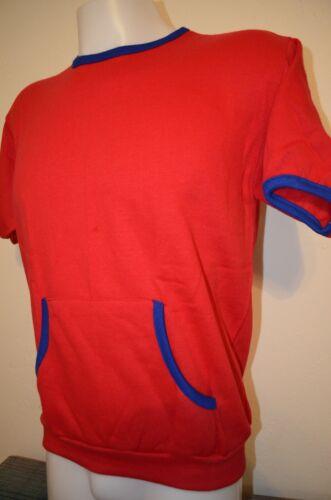 Sportswear Two Tone Red Atomic Disco Ringer L Swea
