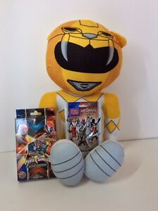 "Power Rangers Bundle Rise of Heroes Trading Cards Deck Mega Blocks & 21"" Plush"