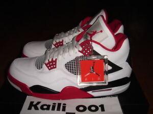 4 Iv Jordan L Negro Rojo Retro Fire Air Nike q4vF11