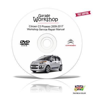 Citroen C3 Picasso 2009-2017 Workshop Service Repair Manual PDF Digital DOWNLOAD