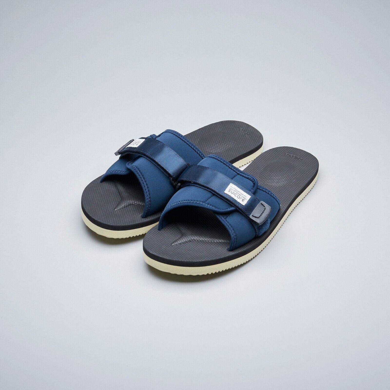 Suicoke OG-082 Padri Azul Marino Zapatillas De Goma Nylon Ajustable Diapositivas