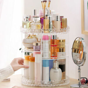 Boite-Cosmetique-Maquillage-Organisateur-Rangement-Tourant-Presentoir-Beaute-G