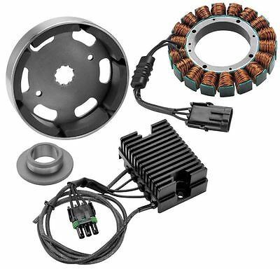 5 Wire//3 Phase Black~1999 Harley Davidson FLSTF Fat Boy Voltage Regulator