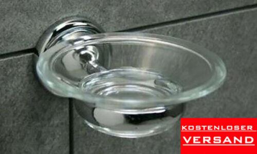 Tiger Toscana Seifenschale 3430 Chrom NEU OVP Dusche Bad Glas Sanitär WC
