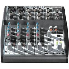 Behringer XENYX 802 8-Input Mixer Board w/ +48V phantom, Power Supply included.