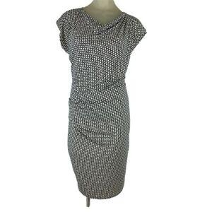 Cabi-Woman-s-dress-black-ivory-knit-pattern-Rushed-Size-small