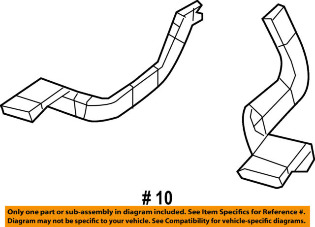 genuine mopar floor duct 5058892aa ebay Ford F-150 Factory Radios chrysler oem dash heater floor duct tube outlet right 5058892aa