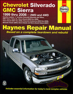 chevrolet silverado gmc sierra shop service repair manual haynes rh ebay com 2000 gmc yukon owner's manual 1999 GMC Yukon