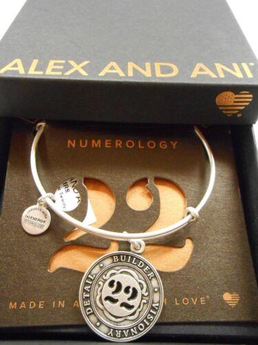 Alex and Ani Numerology Number 22 Bracelet Rafaelian Silver NWTBC