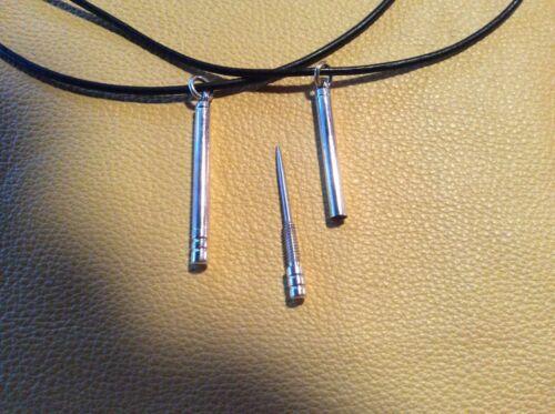 BAREFOOT RUNNING sterling silver SPLINTER REMOVING PENDANT KEYCHAIN MARATHON EDC