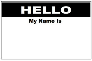 business meetings training conference interviews name tags hello my