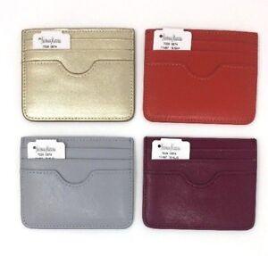 Neiman Marcus Genuine Saffiano Leather Slim Card Holder Wallet