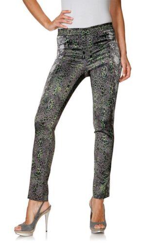 B.C.Femmes Pantalon Imprimé Leggings Élastique Polyester Gris Vert 059294