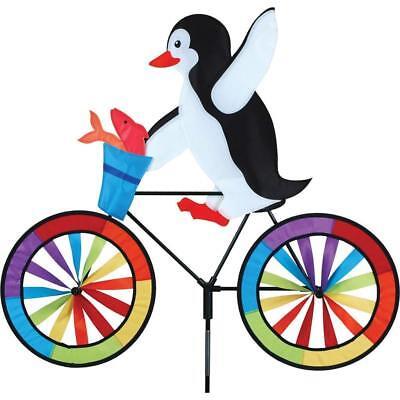 """Whirligig 30/"""" SANTA on a Bike Spinner Garden Stake by Premier Design"""