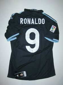 100% authentic 1e941 2da58 Details about New Real Madrid Cristiano Ronaldo Adidas Kit Jersey 2009 2010  Away Navy Shirt