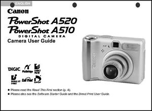 Canon powershot a520 manual.