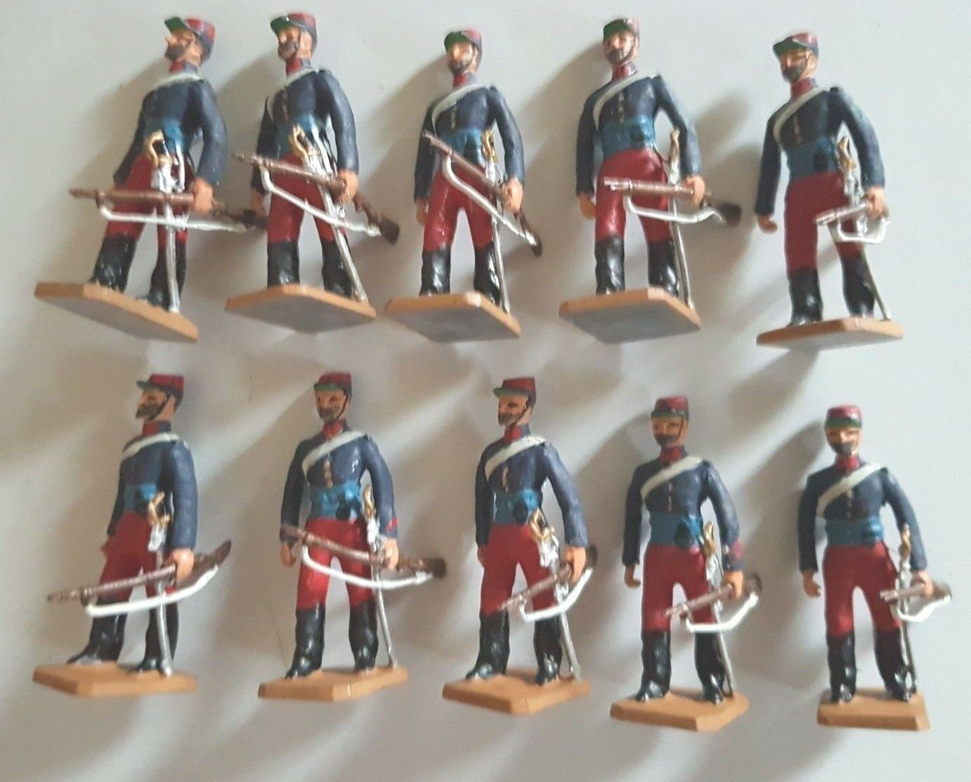 Frontier French Foreign Legion 10 Figures  White Metal