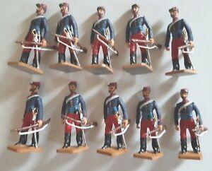 Frontière Légion étrangère française à 10 figurines en métal blanc