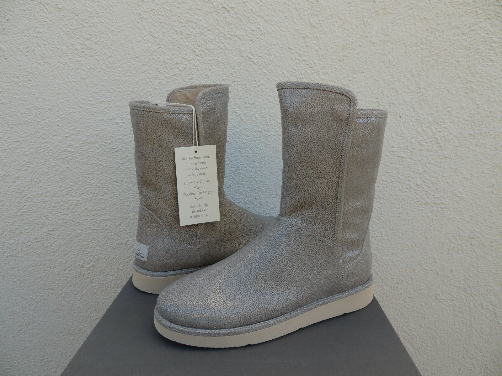 c7c8ecc08f0 UGG Collection Women's Abree Short Stingray BOOTS 1009206ash Made in Italy  Sz 10