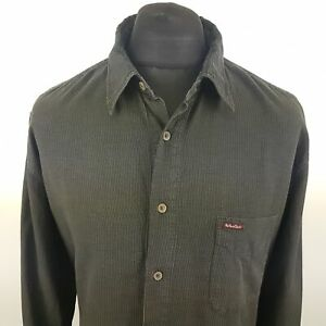 Marlboro-Classics-Mens-Vintage-Cord-Shirt-XL-Long-Sleeve-Green-Regular-Fit