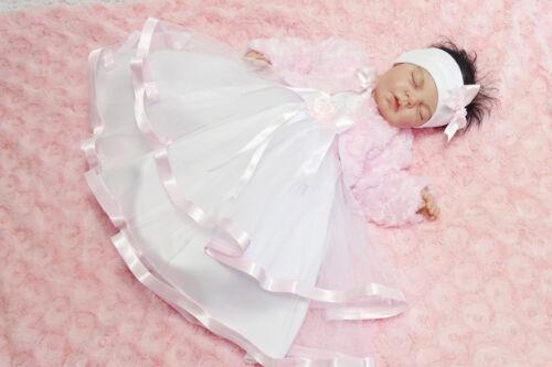 Stirnband Babykleid  Tüll  62,68,74,80,86   NEU ♥Anabell♥ Taufkleid Bolero
