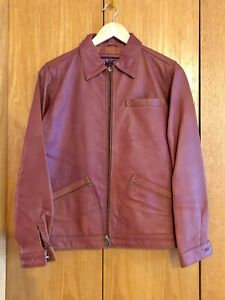 Women-039-s-THE-TERRITORY-AHEAD-Brown-Full-Zip-100-Leather-Jacket-Size-XS