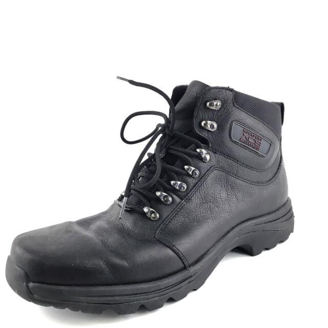 Rockport Elkhart Black Leather Hi Top Wp Xcs Boots Men S Size 13 M