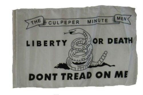 """12x18 12/""""x18/"""" Culpeper Liberty or Death Gadsden Culpepper Sleeve Flag Garden"""