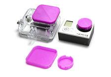 Linsen Schutz für GoPro HD HERO 3 Zubehör Lens Cap Protector Abdeckung Purple