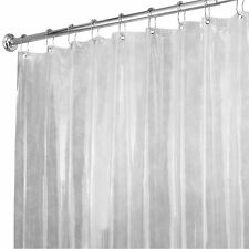 72 By 96 Long Clear Vinyl Shower Curtain Liner Bathroom Anti Mildew Plastic