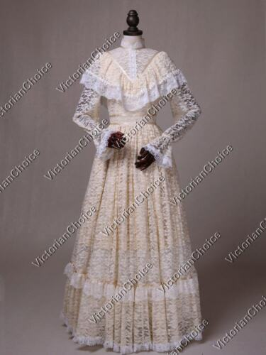 Victorian Costumes: Dresses, Saloon Girls, Southern Belle, Witch    Edwardian Victorian Vintage Wedding Dress Gown Bride Downton Abbey Theater N 392 $165.00 AT vintagedancer.com